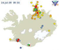Earthquakes hit north Iceland
