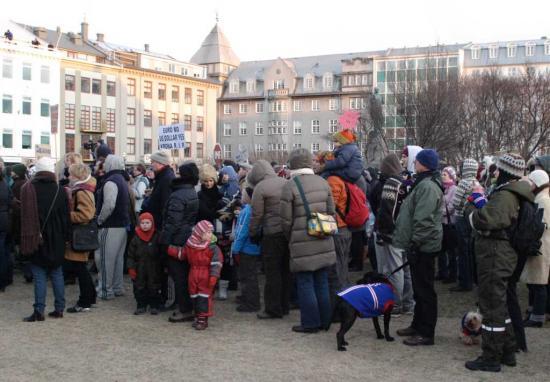 Reykjavik demonstration