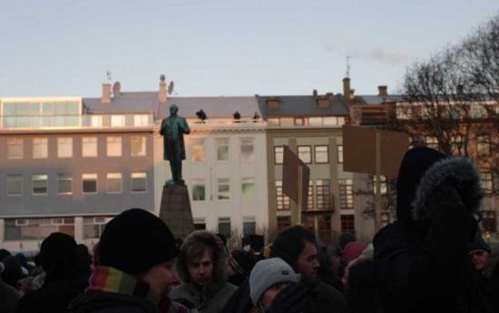 unrest in Reykjavik