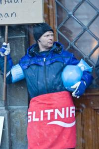 Icelandic protester