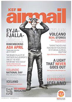 Keflavík International Airport recaps Eyjafjallajökull volcano in new B2B magazine