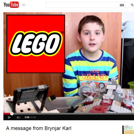 Lego gets challenged by an autistic boy from Iceland