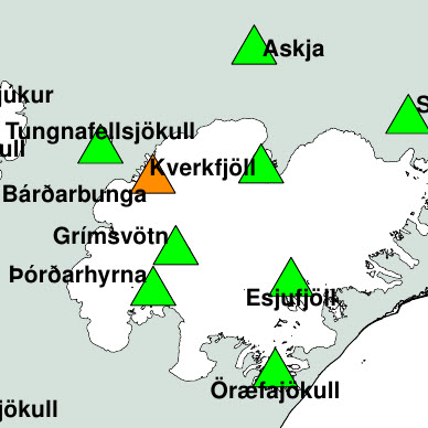 Emergency phase back to alert phase in Iceland