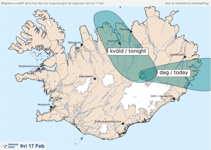 Volcanic eruption in Holuhraun ongoing