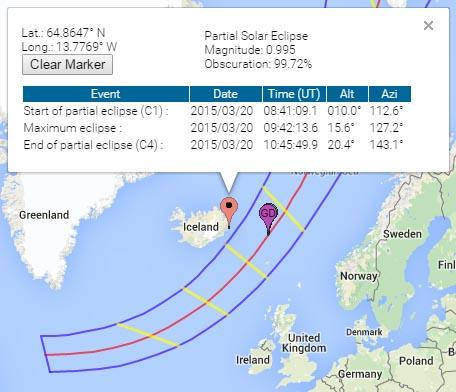 solar eclipse map