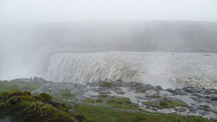 Heavy rainfall at Dettifoss waterfall a concern for visitors