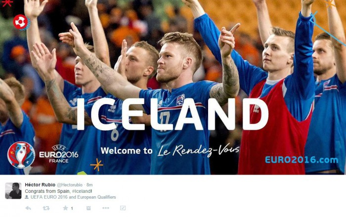 Twitter takes off as Iceland goes through to France