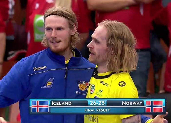 Euro 2016 handball – Icelandic victory over Norway 26:25