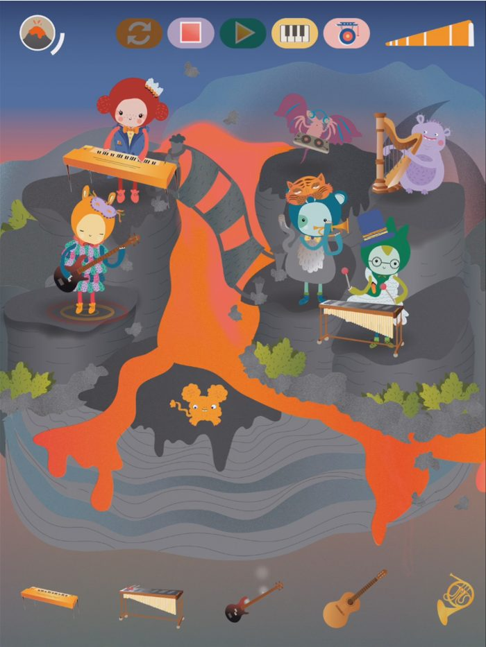 Musical monster adventure, Mussila, a musical app for kids