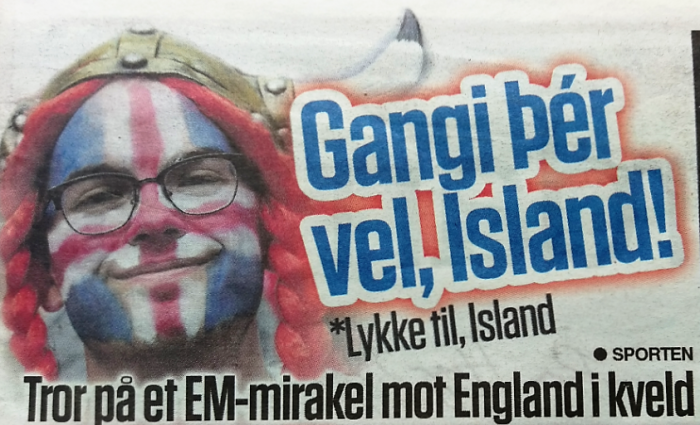 Football: Thank you world for supporting Iceland