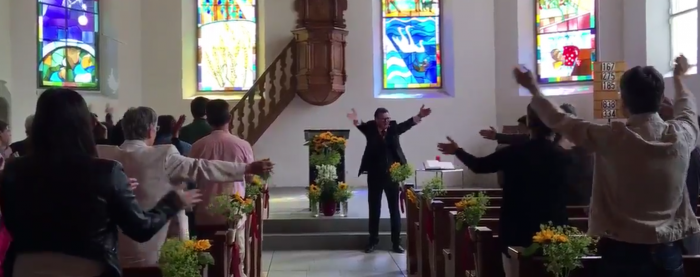 """The """"HUH"""" in support Iceland done in churches"""
