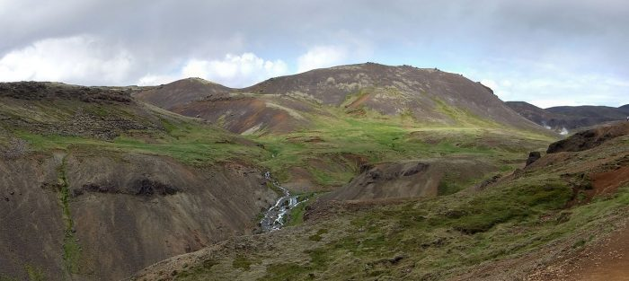 Reykjadalur – A friendly sheep and a hot river