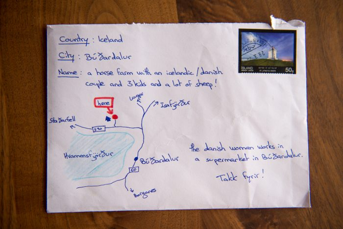 A letter addressed to a farm in Iceland goes viral.  Neither name nor address on envelope