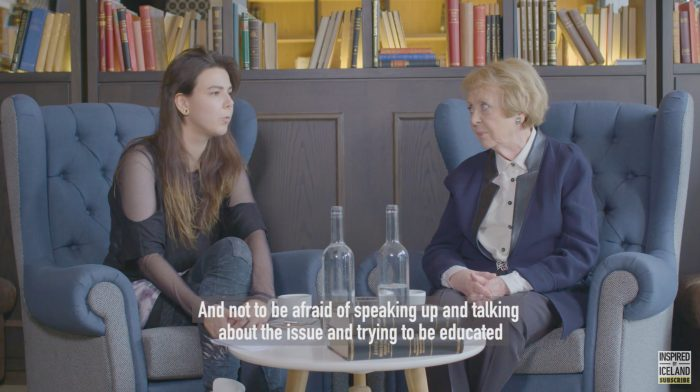 Video – Vigdis Finnbogadottir and Of Monsters and Men singer Nanna Bryndis Hilmarsdottir have a conversation about equal rights
