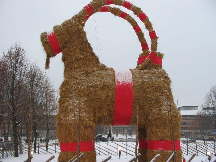 The IKEA Christmas goat set ablaze once more