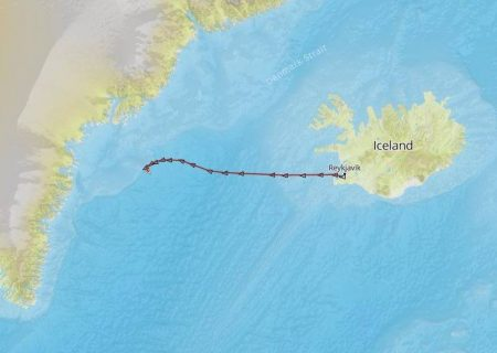 The troller was well on its way back to Greenland when it was turned around