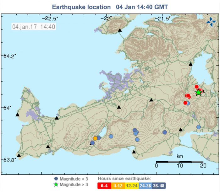 Reykjavik feels an earthquake of 3.8 magnitude today