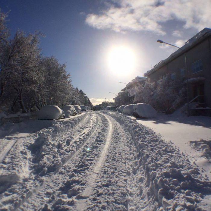Winter wonderland, Reykjavik transformed overnight