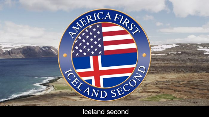 """Mr. President, conceder Iceland second – A message to Trump """"in his own words"""" (Video)"""