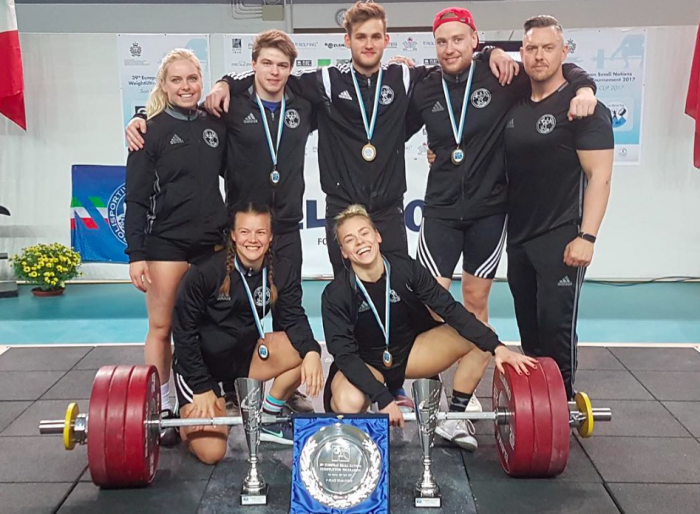 Iceland's National Weightlifting team comes in first in San Marino