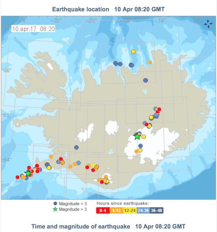 Magnitude 4.5 earthquake west of Reykjanes peninsula