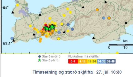 Multiple large earthquakes on the Reykjanes Peninsula in Iceland