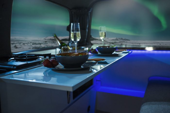 """A new concept for an """"Aurora Explorer"""" introduced by Icelandic camper company"""