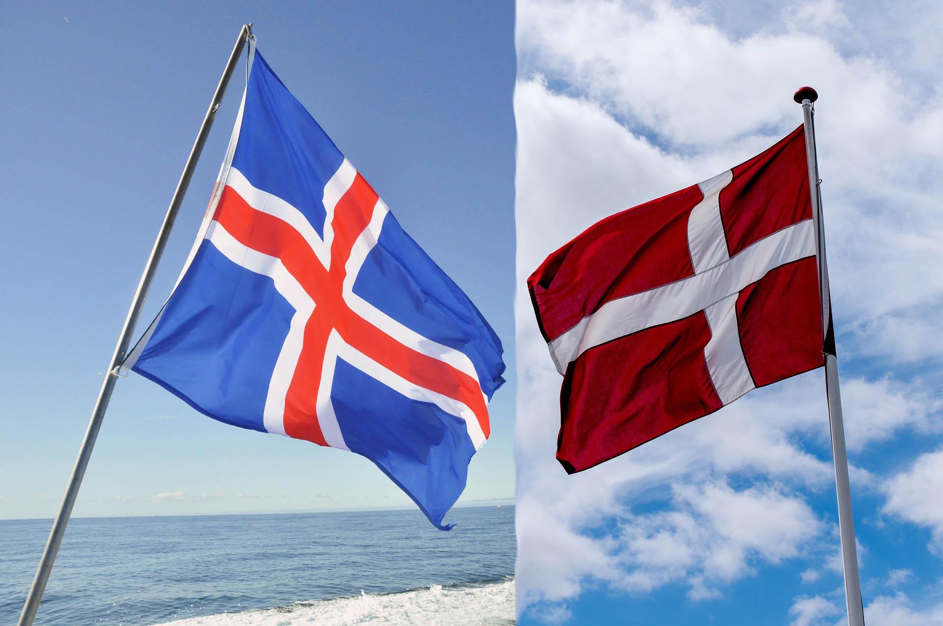 Denmark, Iceland, Flag