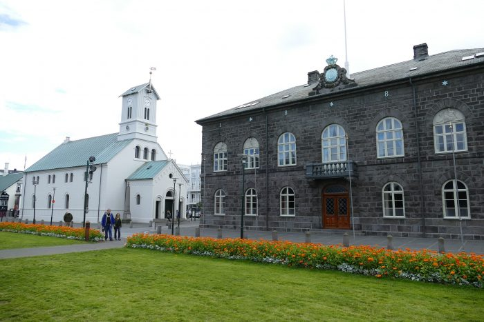 Protesters arrested at Alþingi