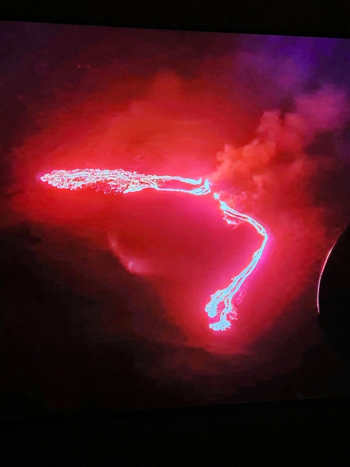 Volcanic Eruption live-streamed from Iceland